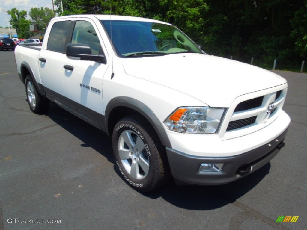 2012 Ram 1500 Outdoorsman Crew Cab - Bright White / Dark Slate Gray/Medium Graystone photo #1
