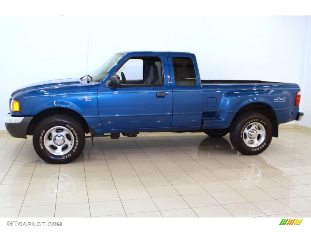 bright island blue metallic 2001 ford ranger xlt supercab 4x4 exterior photo 68464765. Black Bedroom Furniture Sets. Home Design Ideas