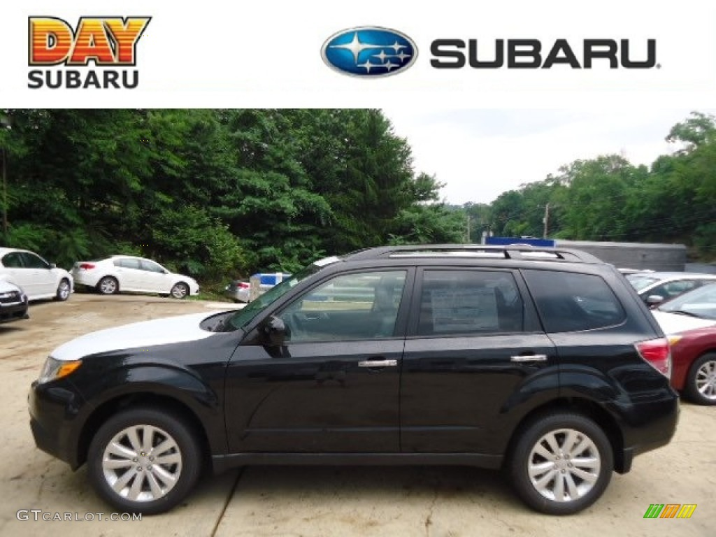 2013 obsidian black pearl subaru forester 2 5 x limited 68469031 car color. Black Bedroom Furniture Sets. Home Design Ideas