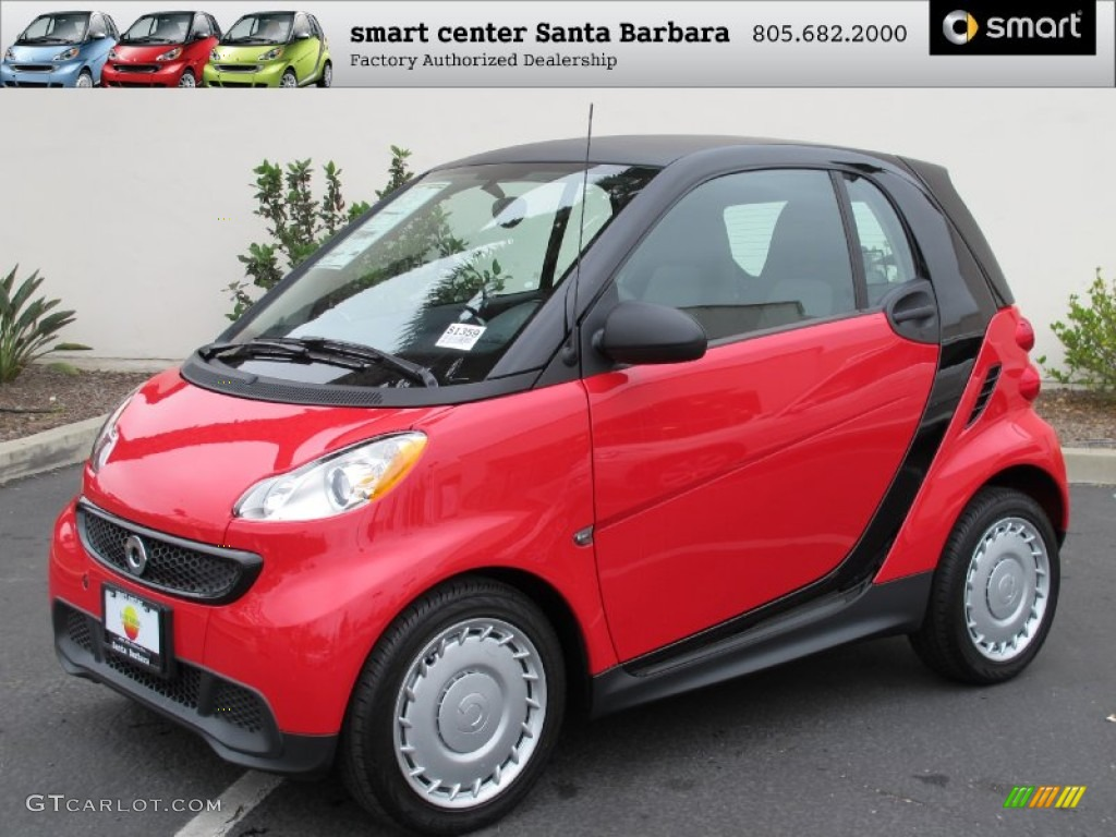 2013 fortwo pure coupe rally red plain black photo 1
