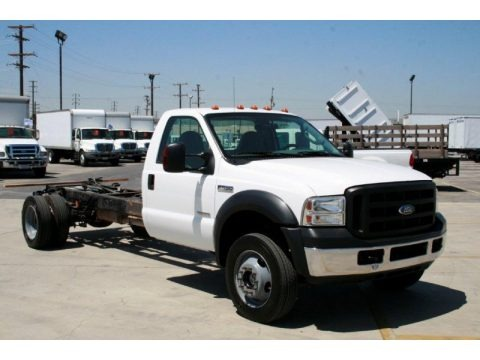 2007 Oxford White Ford F550 Super Duty Lariat Crew Cab 4x4 Chassis ...