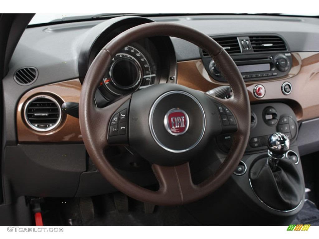 2012 Fiat 500 Sport Sport Tessuto Marrone Nero Brown