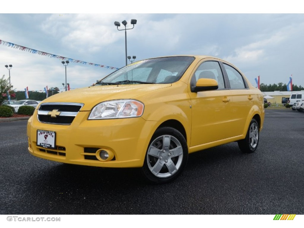 2010 summer yellow chevrolet aveo lt sedan 68469424 car color galleries. Black Bedroom Furniture Sets. Home Design Ideas