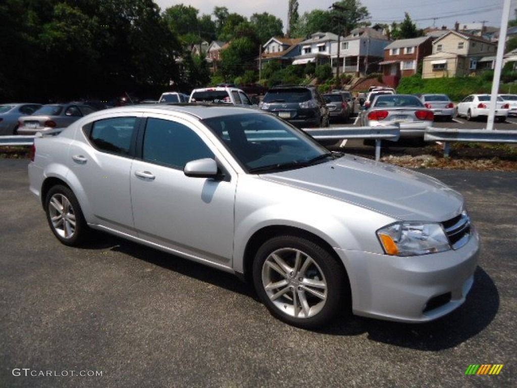 Bright Silver Metallic 2012 Dodge Avenger SXT Plus Exterior Photo