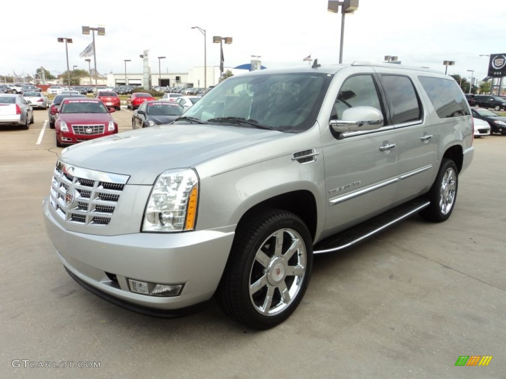 2012 radiant silver metallic cadillac escalade esv luxury. Black Bedroom Furniture Sets. Home Design Ideas