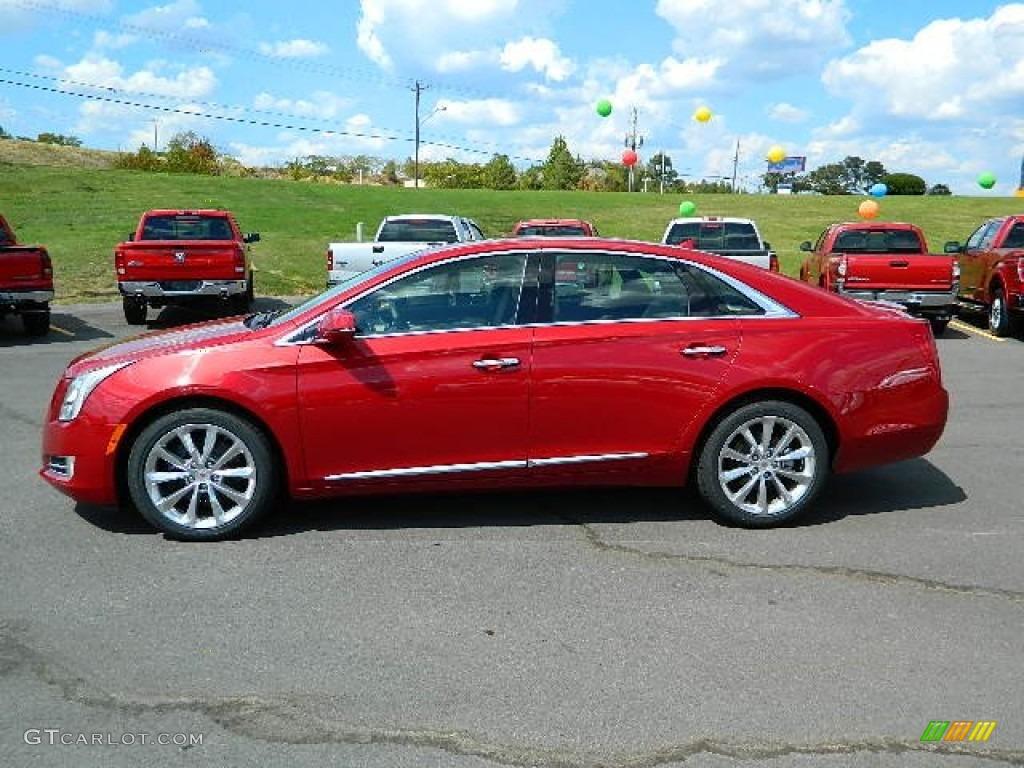 Crystal Red Tintcoat 2013 Cadillac Xts Premium Fwd Exterior Photo 68555209