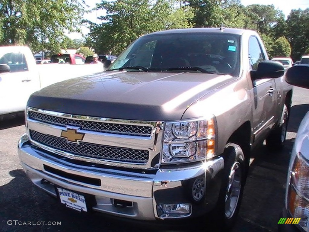 2013 Silverado 1500 LT Regular Cab 4x4 - Mocha Steel Metallic / Ebony photo #1