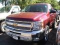2013 Deep Ruby Metallic Chevrolet Silverado 1500 LT Regular Cab  photo #1