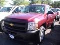 2013 Deep Ruby Metallic Chevrolet Silverado 1500 Work Truck Regular Cab  photo #1