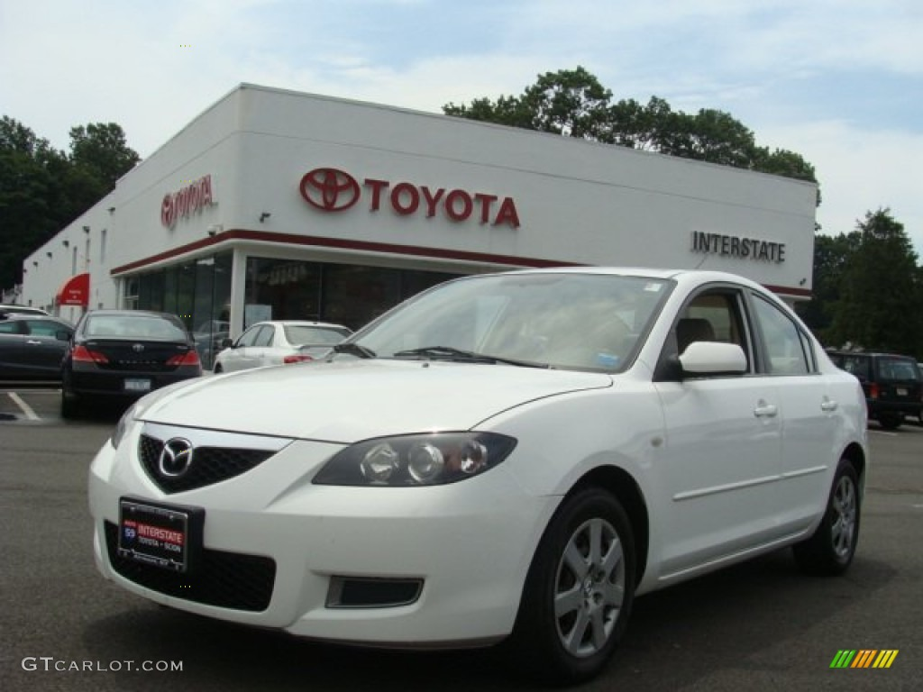 2007 rally white mazda mazda3 i sedan 68523405 gtcarlot. Black Bedroom Furniture Sets. Home Design Ideas