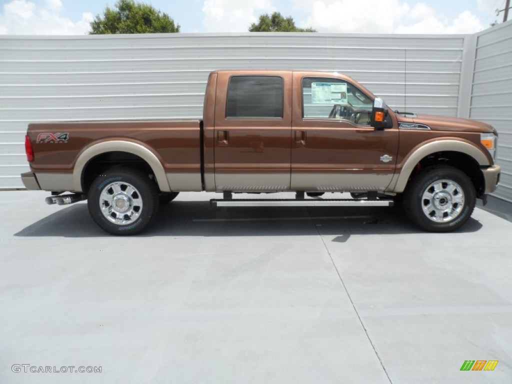 Golden Bronze Metallic 2012 Ford F250 Super Duty King Ranch Crew Cab ...