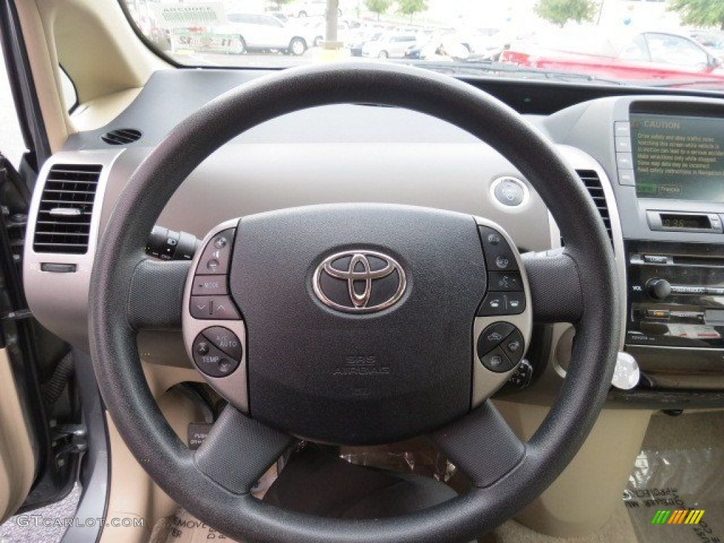 2005 toyota prius hybrid ivory brown steering wheel photo 68582696 gtcarlot com