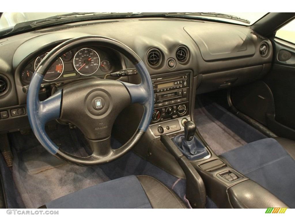 two tone black blue interior 1999 mazda mx 5 miata 10th anniversary edition roadster photo