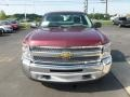 2013 Deep Ruby Metallic Chevrolet Silverado 1500 Work Truck Regular Cab 4x4  photo #2