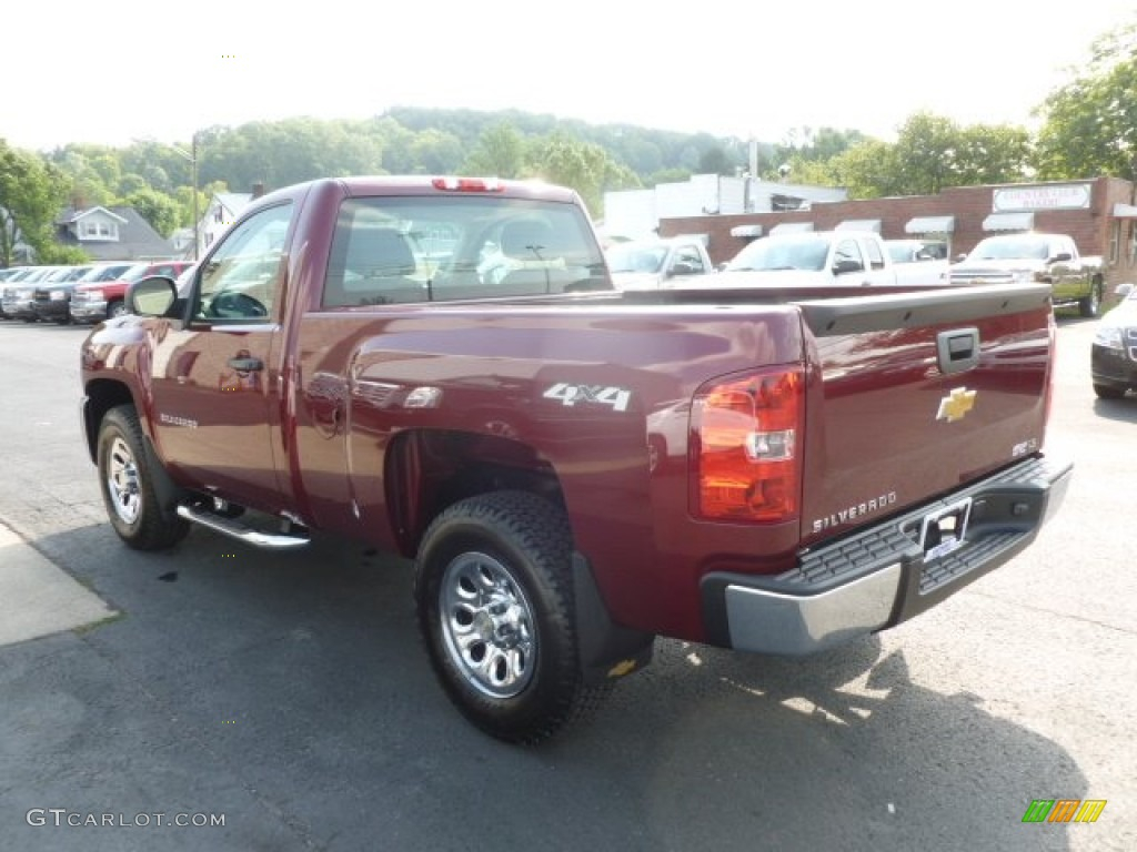 2013 Silverado 1500 Work Truck Regular Cab 4x4 - Deep Ruby Metallic / Dark Titanium photo #5