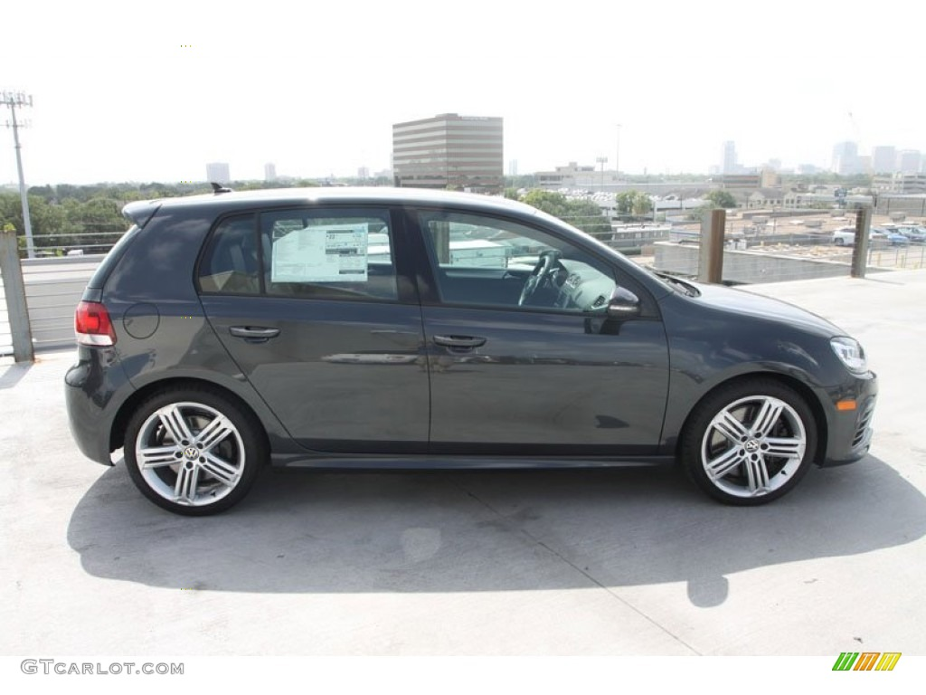 carbon steel gray metallic 2013 volkswagen golf r 4 door. Black Bedroom Furniture Sets. Home Design Ideas