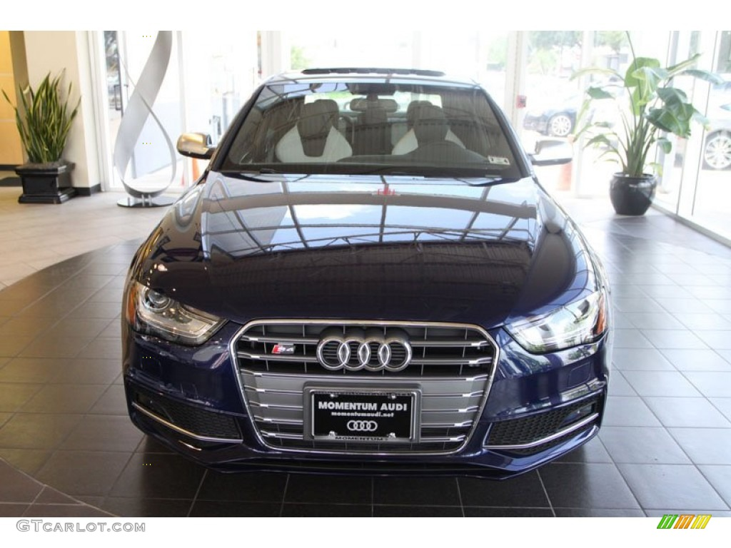 2013 estoril blue crystal audi s4 3 0t quattro sedan 68579791 photo 2 car. Black Bedroom Furniture Sets. Home Design Ideas