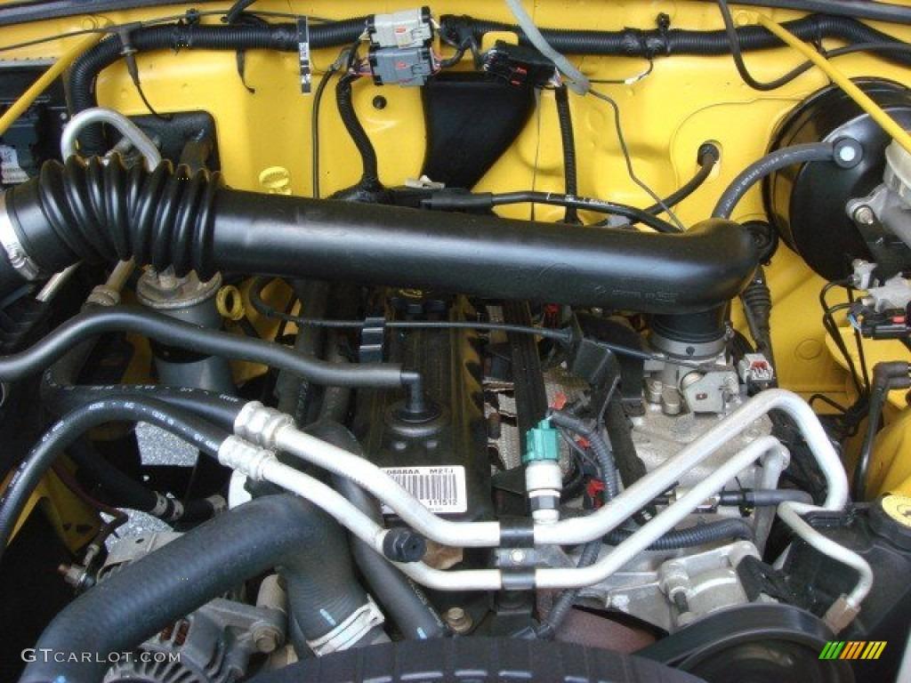 2006 Jeep Wrangler X 4x4 40 Liter OHV 12V Inline 6 Cylinder