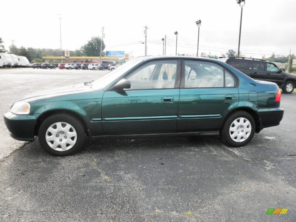 clover green pearl 2000 honda civic vp sedan exterior