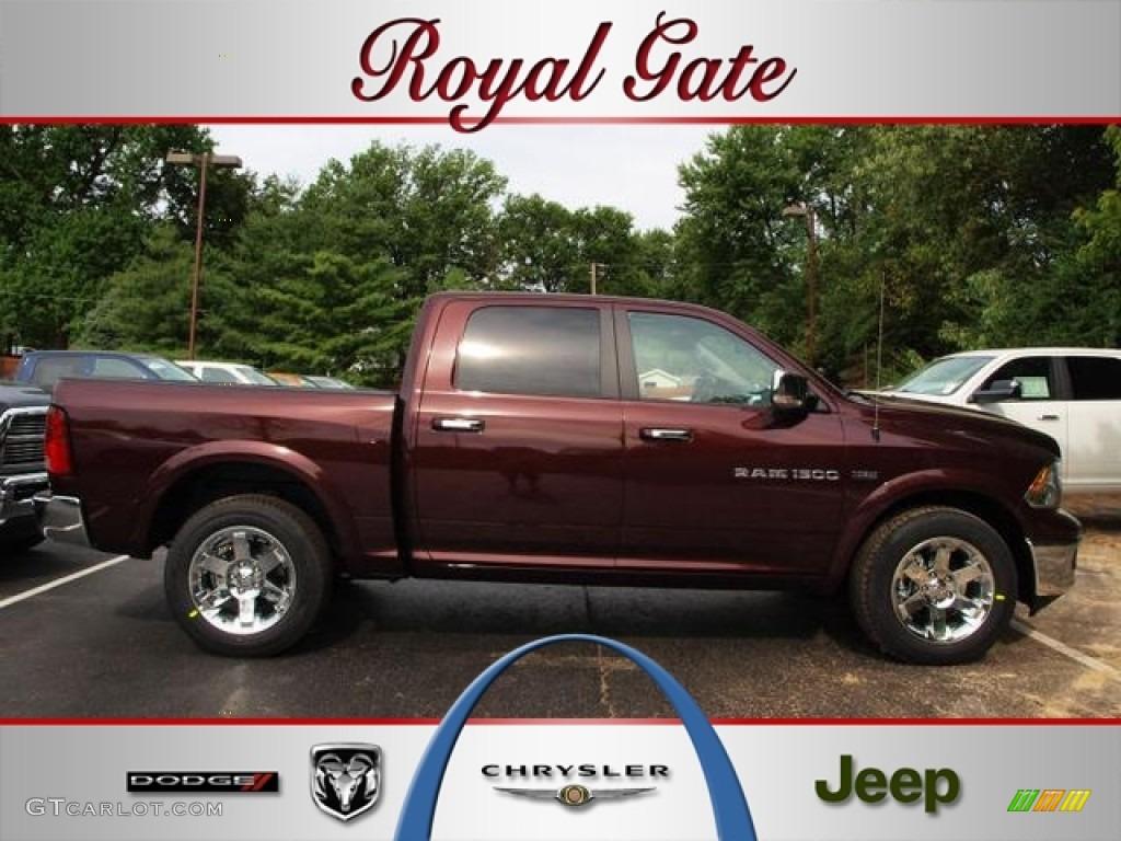 2012 Ram 1500 Laramie Crew Cab 4x4 - Deep Molten Red Pearl / Dark Slate Gray photo #1