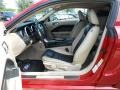 2009 Ford Mustang Black/Tan Interior Front Seat Photo
