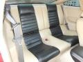 2009 Ford Mustang Black/Tan Interior Rear Seat Photo
