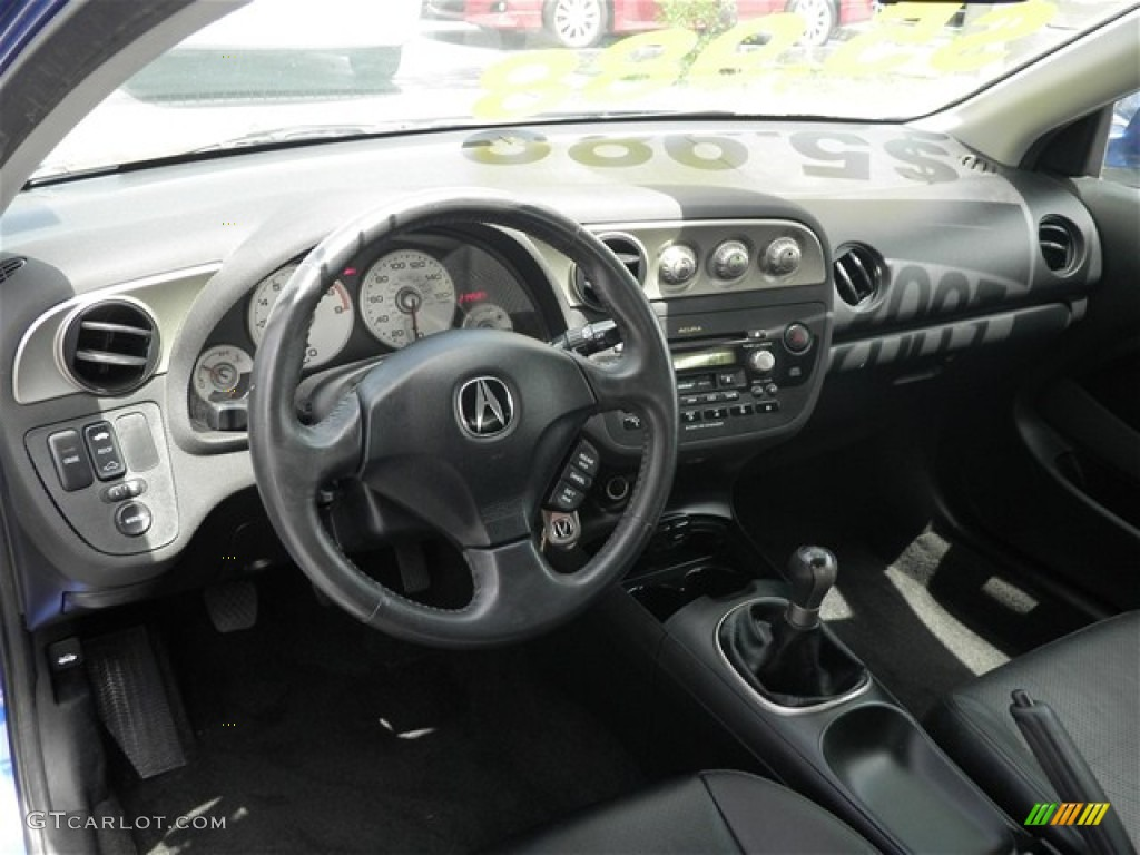 2002 Acura RSX Type S Sports Coupe Ebony Black Dashboard Photo #68610476 | GTCarLot.com