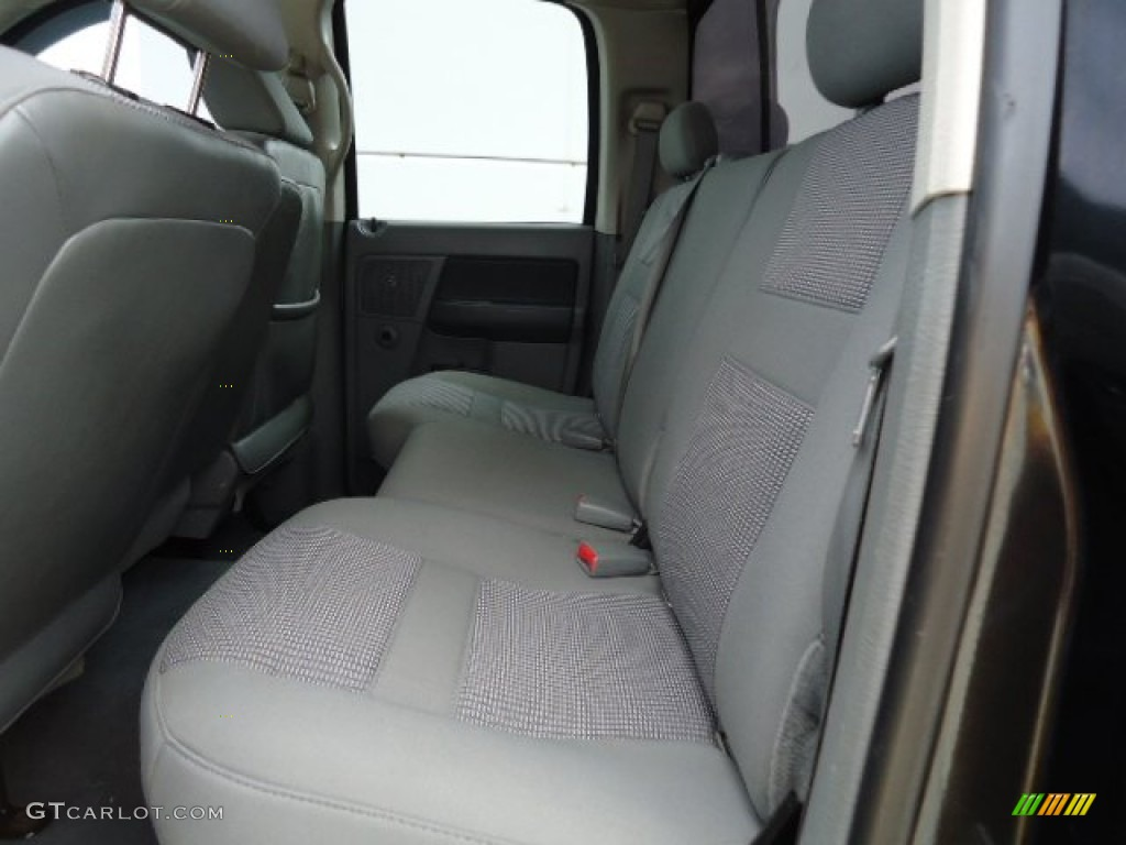 2008 Dodge Ram 1500 Big Horn Edition Quad Cab 4x4 Rear Seat Photo #68623001
