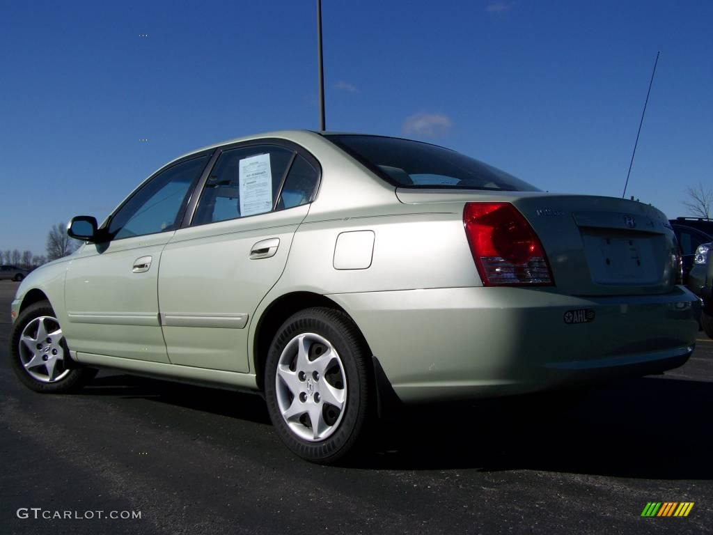 2004 sea shell green hyundai elantra gls sedan 6830857. Black Bedroom Furniture Sets. Home Design Ideas