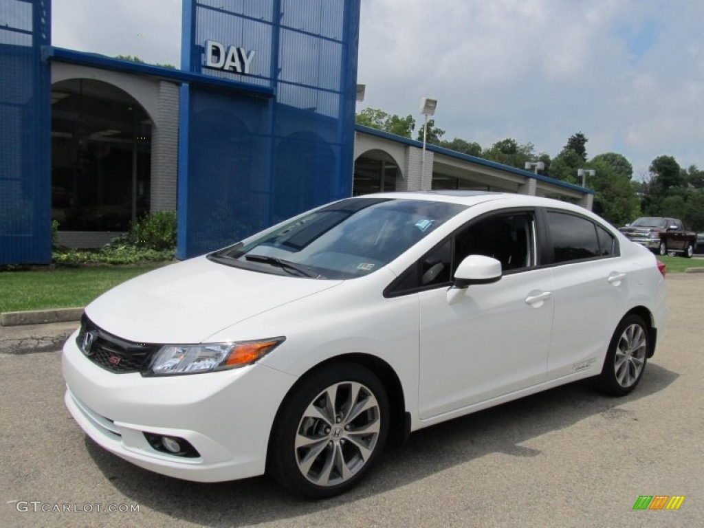 2012 taffeta white honda civic si sedan 68579311 for 2012 honda civic white