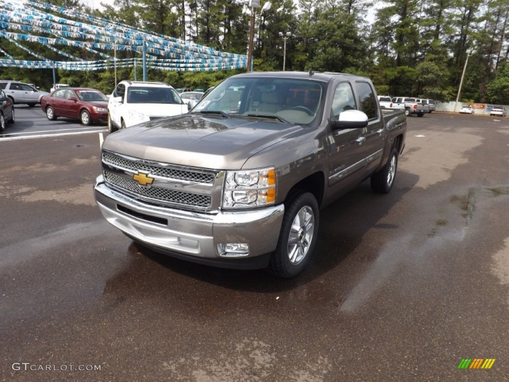 2012 Silverado 1500 LT Crew Cab - Mocha Steel Metallic / Light Cashmere/Dark Cashmere photo #1