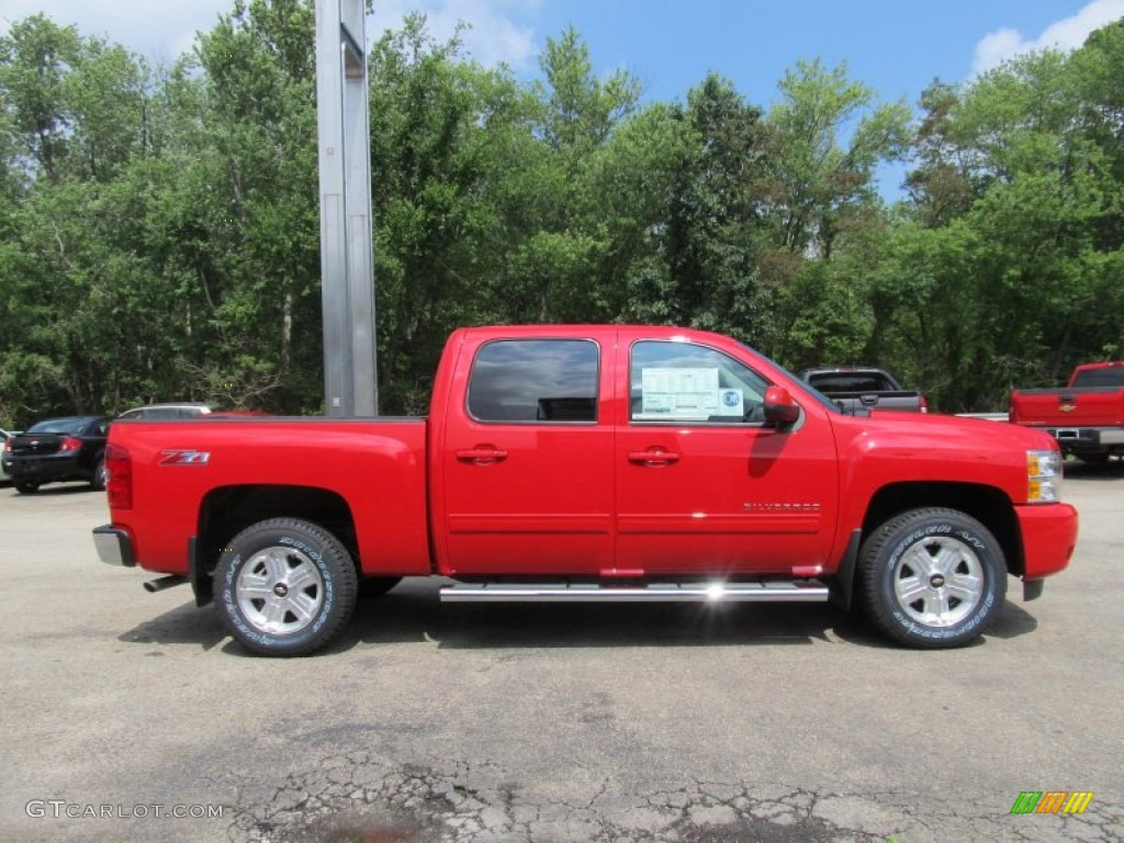 2013 Silverado 1500 LT Crew Cab 4x4 - Victory Red / Ebony photo #4