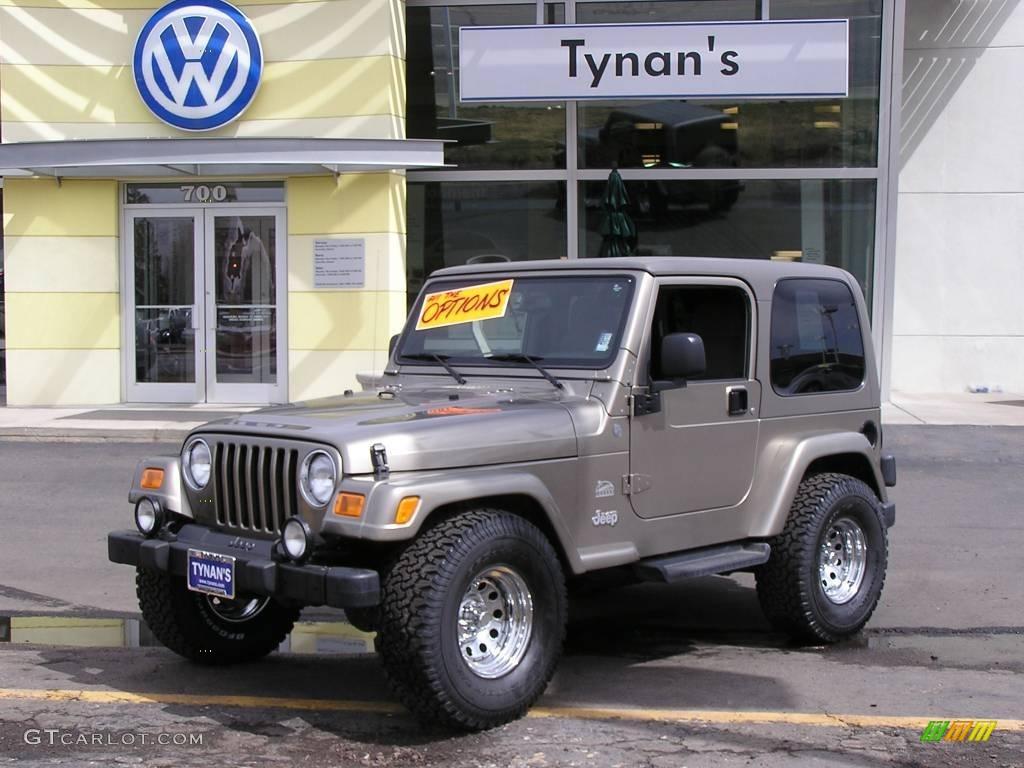 Jeep Wrangler Paint >> 2004 Light Khaki Metallic Jeep Wrangler Sahara 4x4 ...