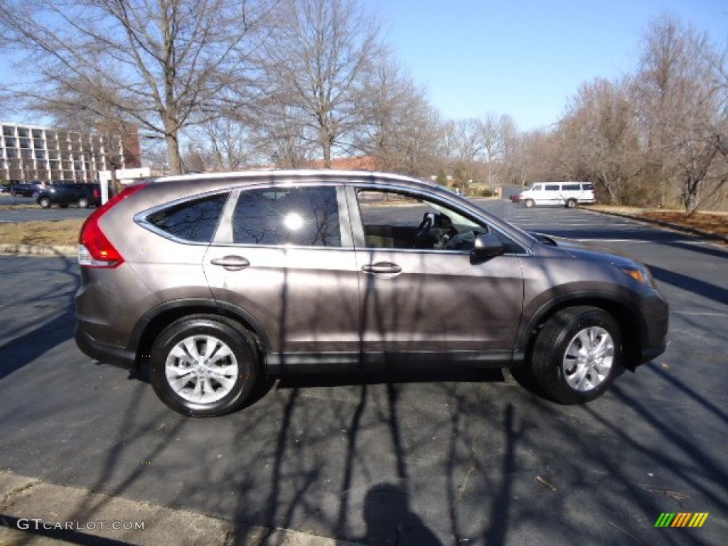 2012 CR-V EX-L 4WD - Urban Titanium Metallic / Gray photo #8