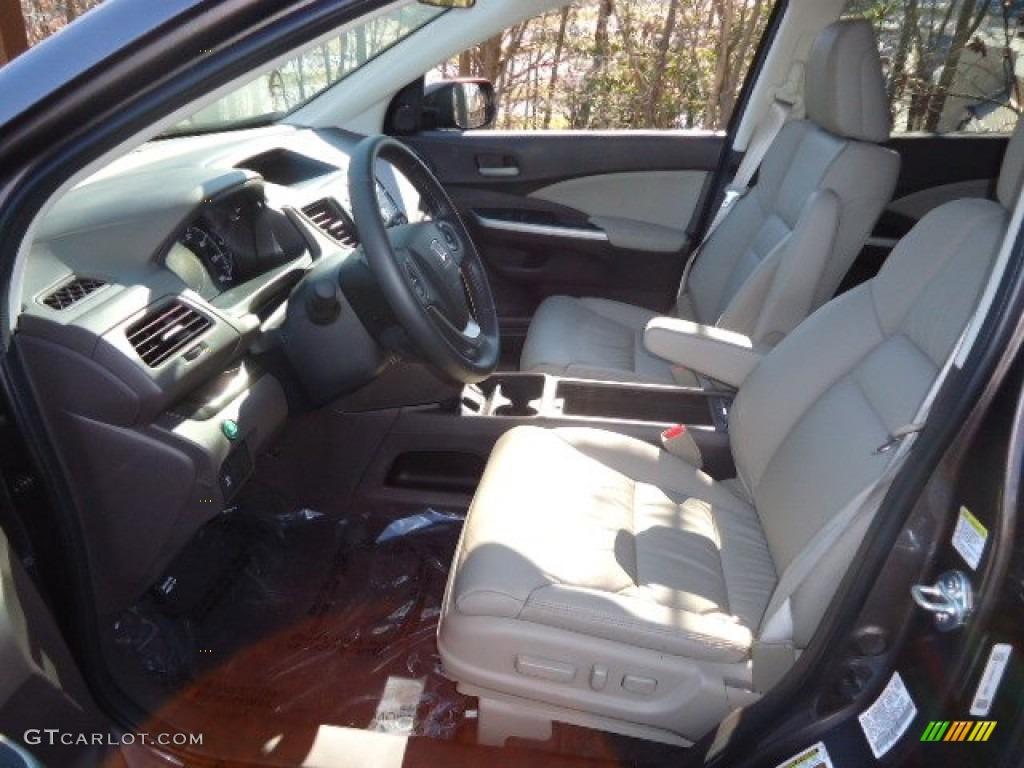 2012 CR-V EX-L 4WD - Urban Titanium Metallic / Gray photo #16