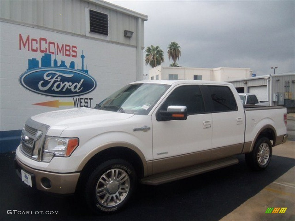 2012 white platinum metallic tri coat ford f150 king ranch supercrew 68630723. Black Bedroom Furniture Sets. Home Design Ideas