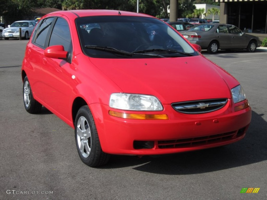 Victory Red 2006 Chevrolet Aveo LS Hatchback Exterior Photo