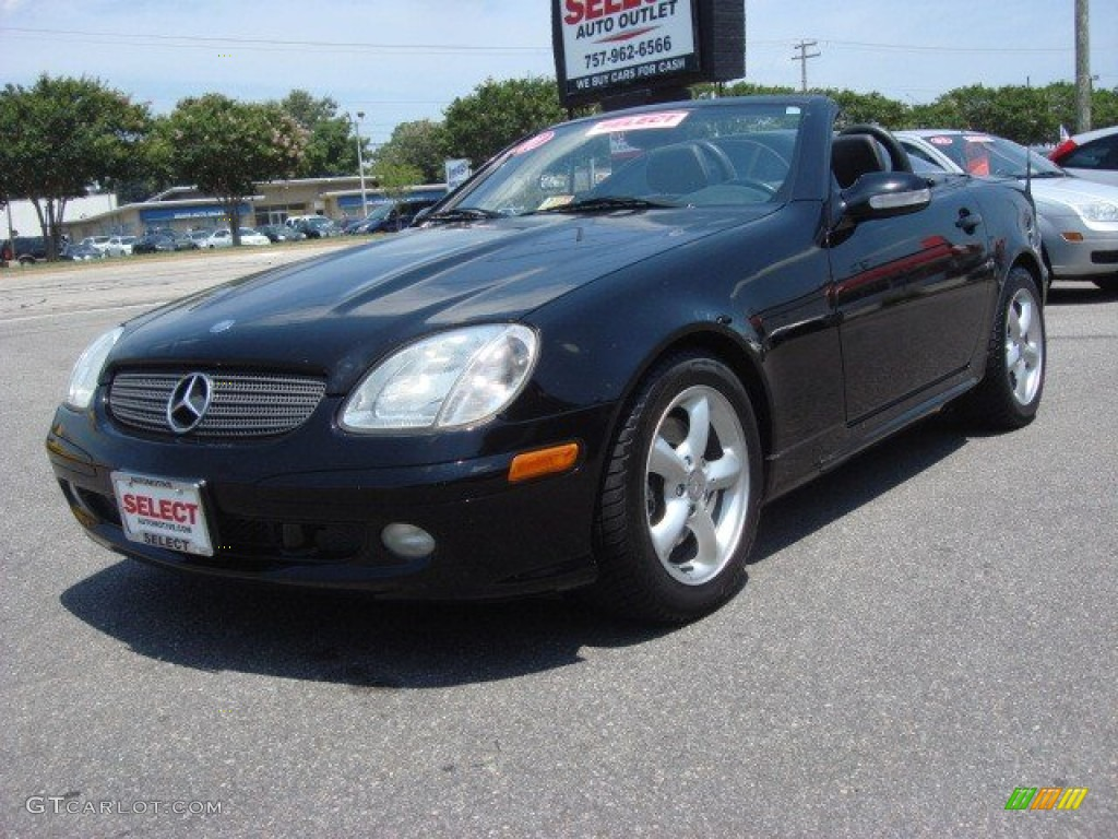 2001 black mercedes benz slk 320 roadster 68630682 car color galleries. Black Bedroom Furniture Sets. Home Design Ideas