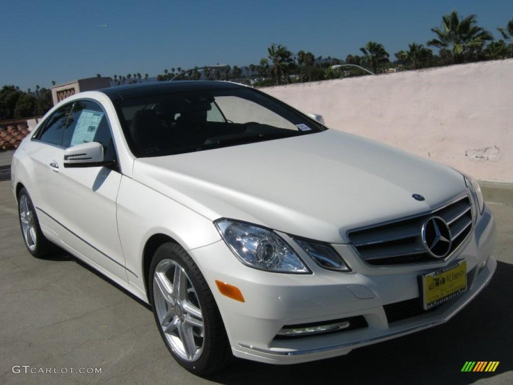 2013 diamond white metallic mercedes benz e 350 coupe for Mercedes benz polar white paint