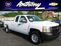 Summit White - Silverado 1500 Work Truck Extended Cab 4x4 Photo No. 1