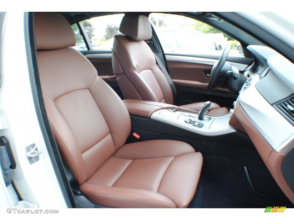Cinnamon Brown Interior 2011 Bmw 5 Series 550i Xdrive Sedan Photo 68685883