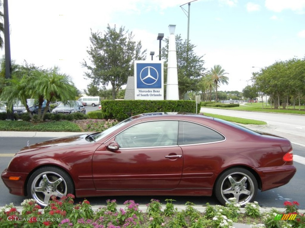 2002 Bordeaux Red Metallic Mercedes Benz Clk 320 Coupe