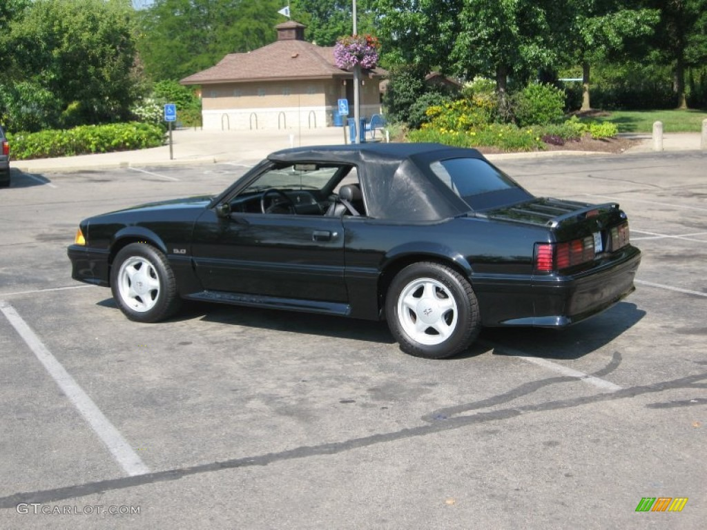 1992 mustang gt convertible black black photo 11