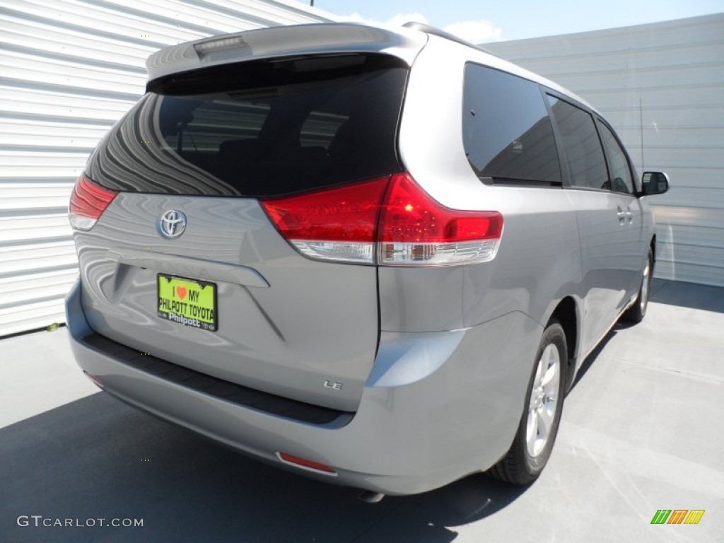 2012 Sienna LE - Silver Sky Metallic / Light Gray photo #3