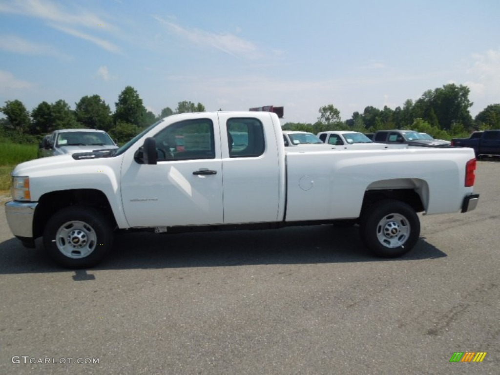 summit white 2013 chevrolet silverado 2500hd work truck extended cab exterior photo 68701291. Black Bedroom Furniture Sets. Home Design Ideas