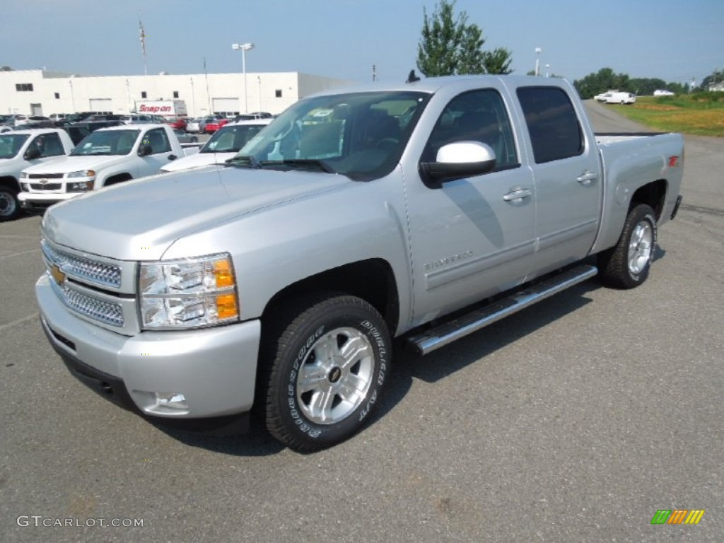 2013 Silverado 1500 LTZ Crew Cab 4x4 - Silver Ice Metallic / Ebony photo #1