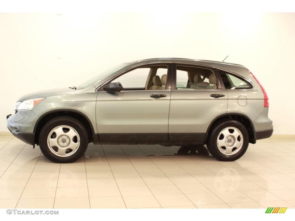 2010 CR-V LX AWD - Opal Sage Metallic / Ivory photo #4