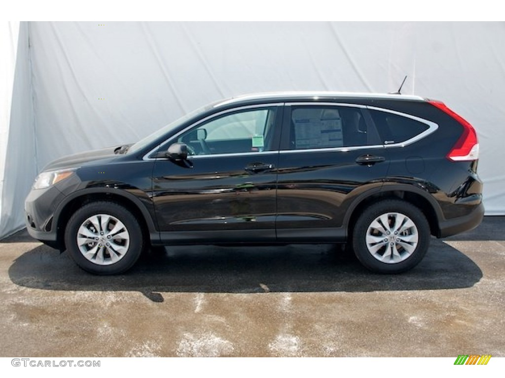 2012 CR-V EX-L - Crystal Black Pearl / Black photo #4