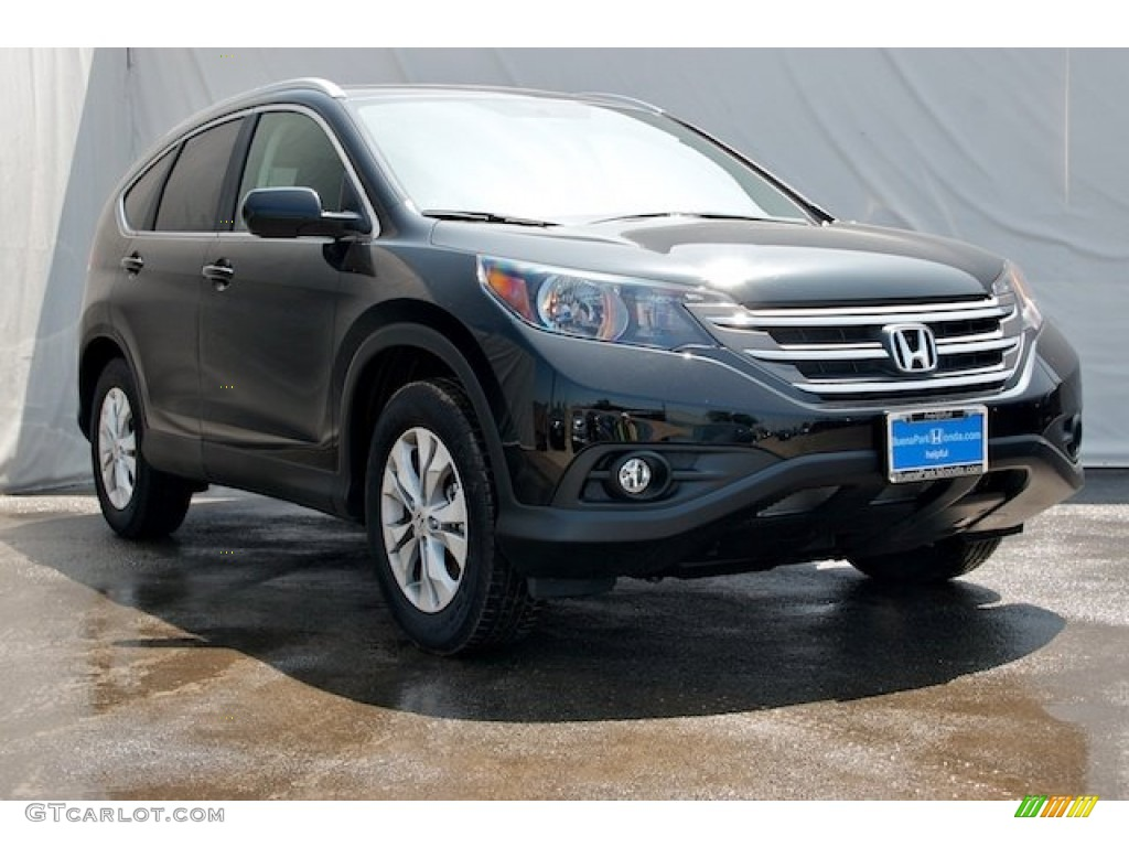 2012 CR-V EX-L - Crystal Black Pearl / Black photo #1