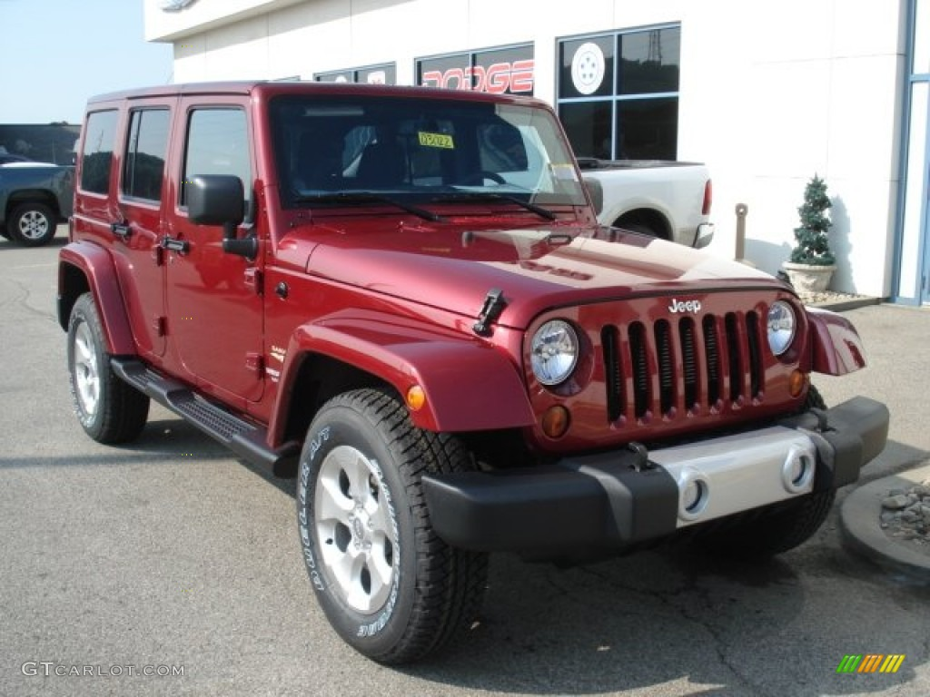 deep cherry red crystal pearl 2013 jeep wrangler unlimited sahara 4x4 exterior photo 68712967. Black Bedroom Furniture Sets. Home Design Ideas